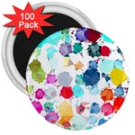 Colorful Diamonds Dream 3  Magnets (100 pack) Front