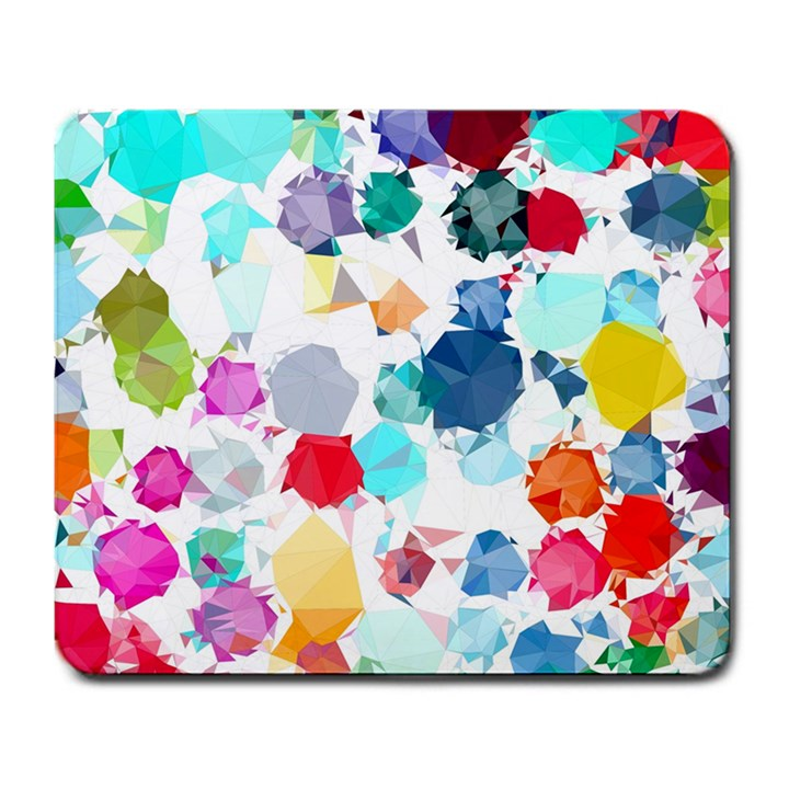 Colorful Diamonds Dream Large Mousepads