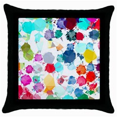Colorful Diamonds Dream Throw Pillow Case (black)