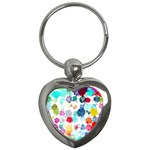 Colorful Diamonds Dream Key Chains (Heart)  Front