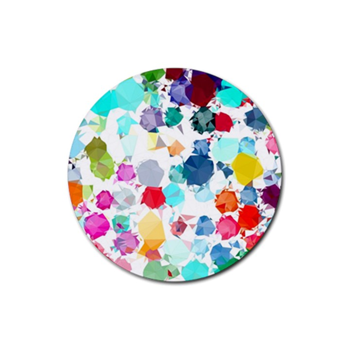 Colorful Diamonds Dream Rubber Coaster (Round)