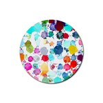 Colorful Diamonds Dream Rubber Round Coaster (4 pack)  Front