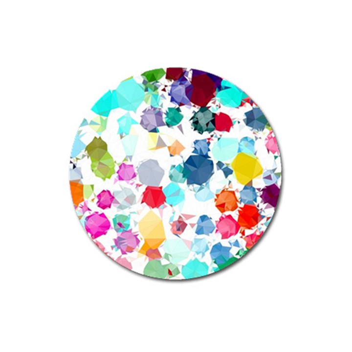 Colorful Diamonds Dream Magnet 3  (Round)