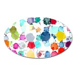 Colorful Diamonds Dream Oval Magnet Front