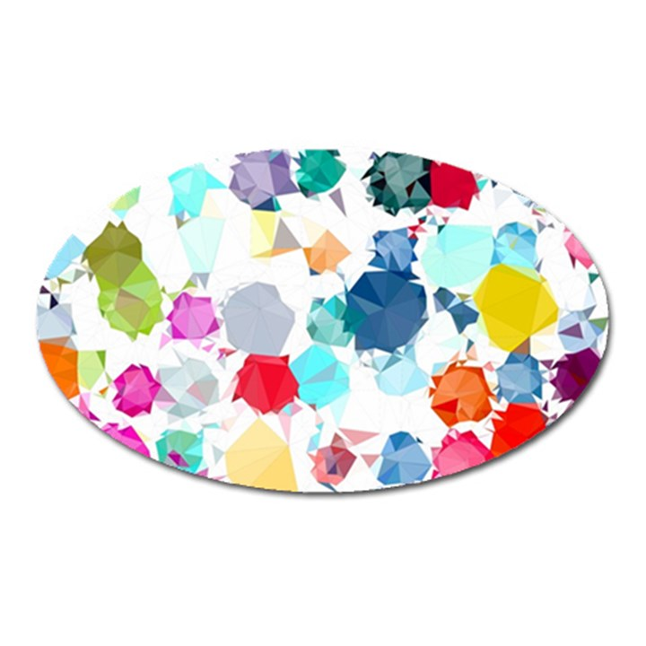 Colorful Diamonds Dream Oval Magnet