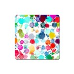 Colorful Diamonds Dream Square Magnet Front