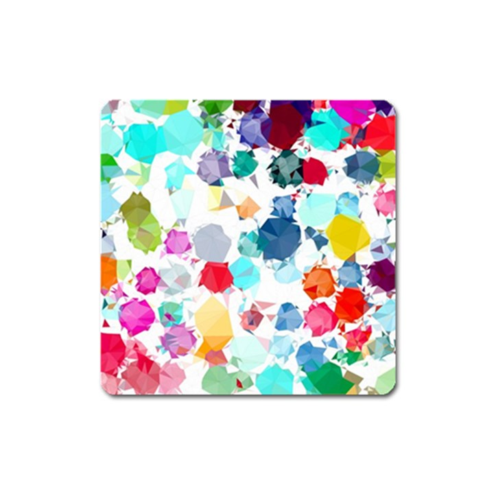Colorful Diamonds Dream Square Magnet