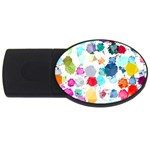 Colorful Diamonds Dream USB Flash Drive Oval (1 GB)  Front