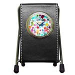 Colorful Diamonds Dream Pen Holder Desk Clocks Front