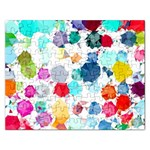 Colorful Diamonds Dream Rectangular Jigsaw Puzzl Front