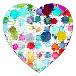 Colorful Diamonds Dream Jigsaw Puzzle (Heart) Front