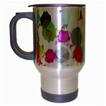 Colorful Diamonds Dream Travel Mug (Silver Gray) Left