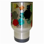Colorful Diamonds Dream Travel Mug (Silver Gray) Center