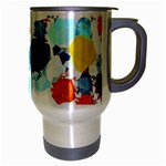 Colorful Diamonds Dream Travel Mug (Silver Gray) Right