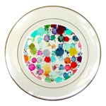 Colorful Diamonds Dream Porcelain Plates Front