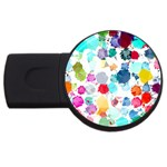 Colorful Diamonds Dream USB Flash Drive Round (4 GB)  Front