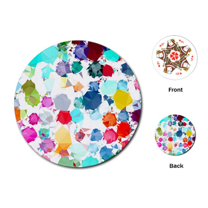 Colorful Diamonds Dream Playing Cards (Round)