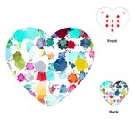 Colorful Diamonds Dream Playing Cards (Heart)  Front