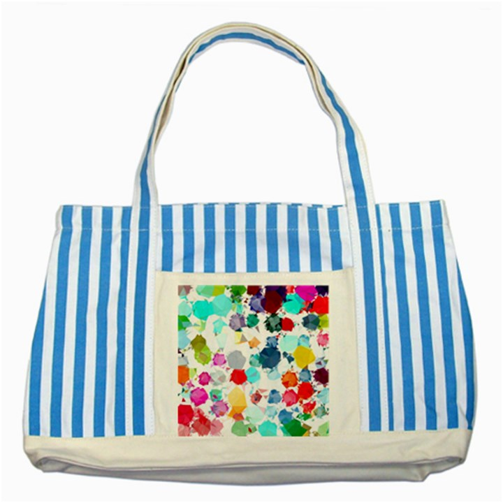 Colorful Diamonds Dream Striped Blue Tote Bag