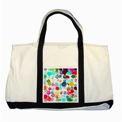 Colorful Diamonds Dream Two Tone Tote Bag