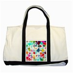 Colorful Diamonds Dream Two Tone Tote Bag Front