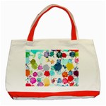 Colorful Diamonds Dream Classic Tote Bag (Red) Front