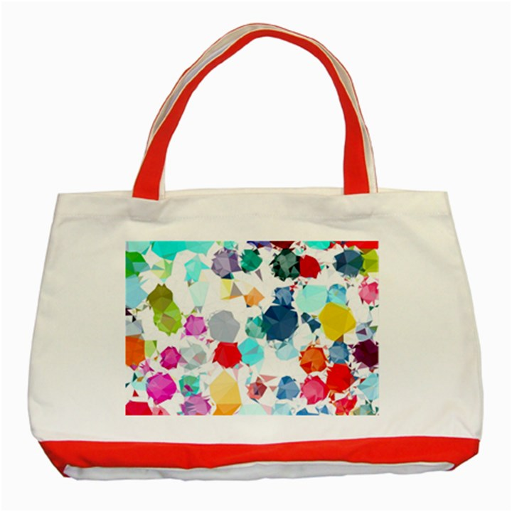 Colorful Diamonds Dream Classic Tote Bag (Red)