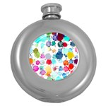 Colorful Diamonds Dream Round Hip Flask (5 oz) Front
