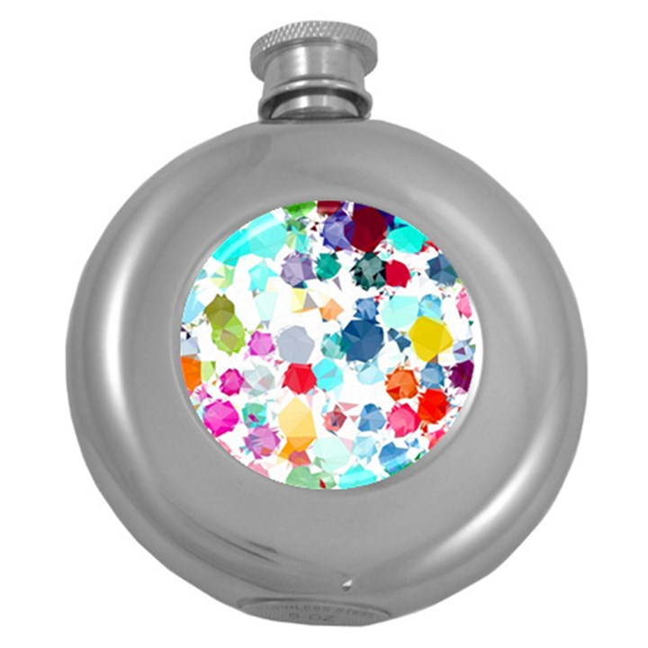 Colorful Diamonds Dream Round Hip Flask (5 oz)