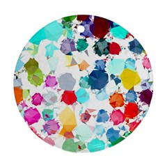 Colorful Diamonds Dream Round Ornament (two Sides)
