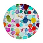 Colorful Diamonds Dream Round Ornament (Two Sides)  Back