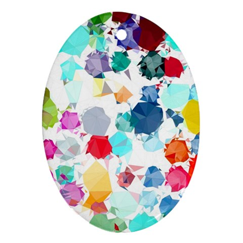 Colorful Diamonds Dream Oval Ornament (Two Sides)