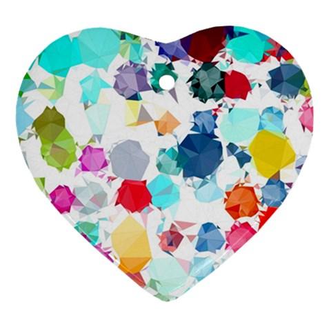 Colorful Diamonds Dream Heart Ornament (2 Sides)