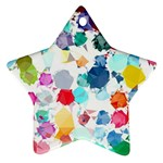 Colorful Diamonds Dream Star Ornament (Two Sides)  Back