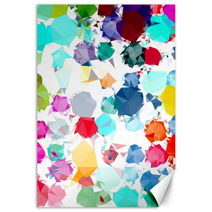 Colorful Diamonds Dream Canvas 12  x 18