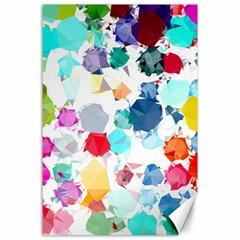 Colorful Diamonds Dream Canvas 24  x 36