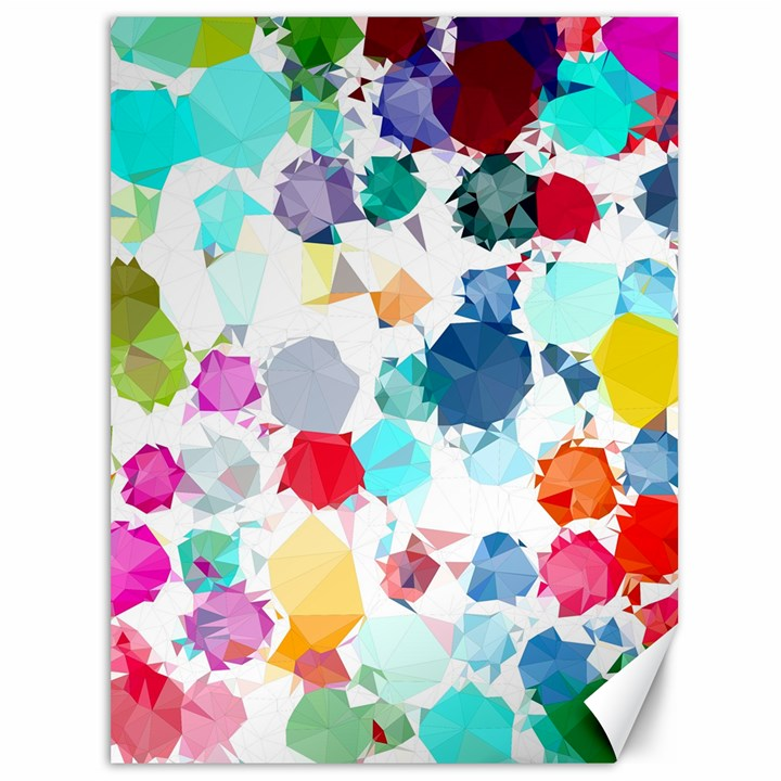 Colorful Diamonds Dream Canvas 36  x 48