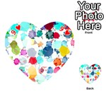Colorful Diamonds Dream Playing Cards 54 (Heart)  Front - Heart9