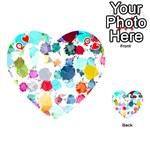 Colorful Diamonds Dream Playing Cards 54 (Heart)  Front - HeartQ
