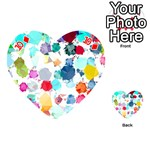 Colorful Diamonds Dream Playing Cards 54 (Heart)  Front - Diamond10