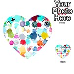 Colorful Diamonds Dream Playing Cards 54 (Heart)  Front - Club7