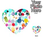 Colorful Diamonds Dream Playing Cards 54 (Heart)  Front - ClubJ