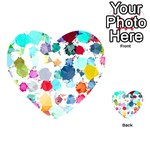 Colorful Diamonds Dream Playing Cards 54 (Heart)  Back