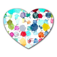 Colorful Diamonds Dream Heart Mousepads