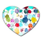 Colorful Diamonds Dream Heart Mousepads Front