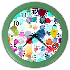 Colorful Diamonds Dream Color Wall Clocks