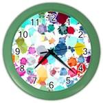 Colorful Diamonds Dream Color Wall Clocks Front