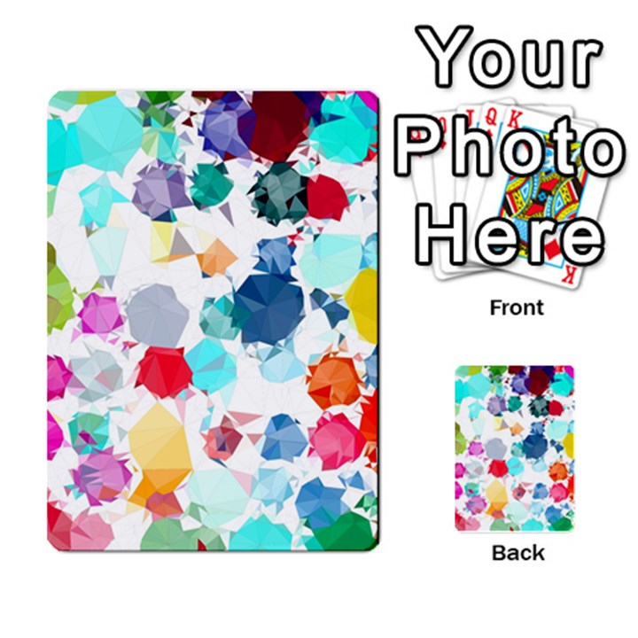 Colorful Diamonds Dream Multi-purpose Cards (Rectangle)