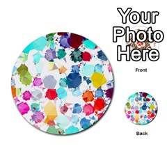 Colorful Diamonds Dream Multi Purpose Cards (round)