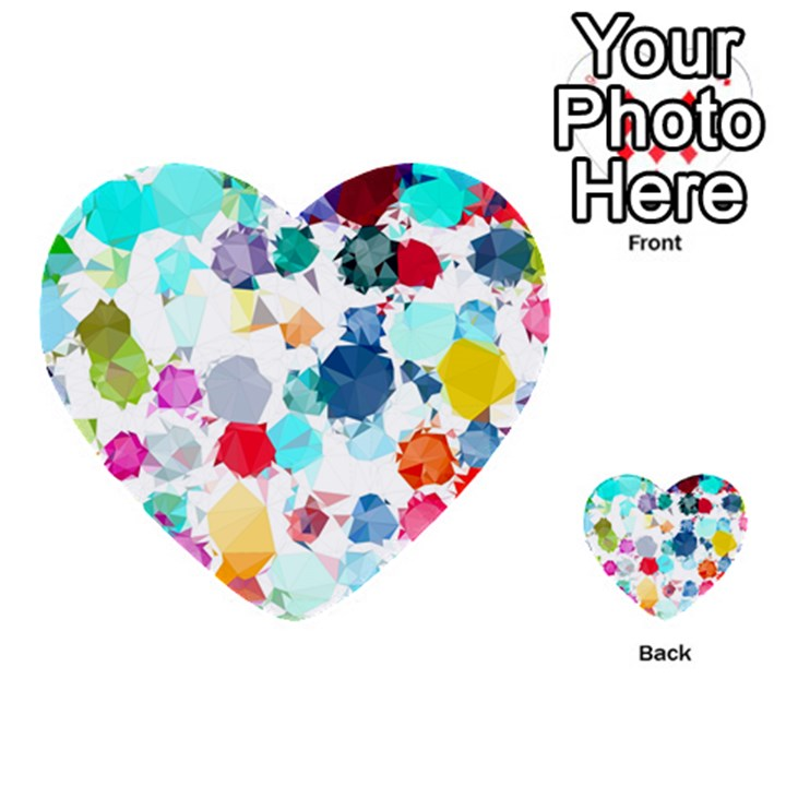 Colorful Diamonds Dream Multi-purpose Cards (Heart)
